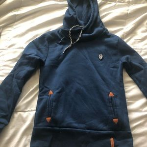 Blue hooded sweater